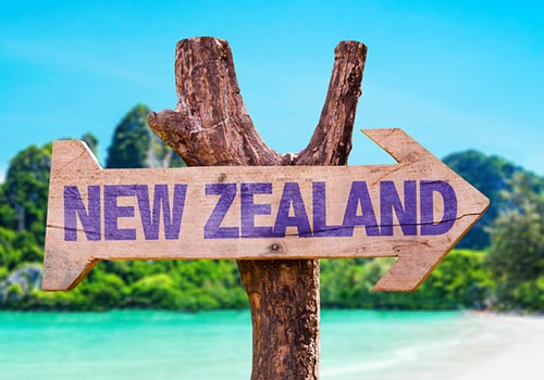 a wooden new zealand visa location board